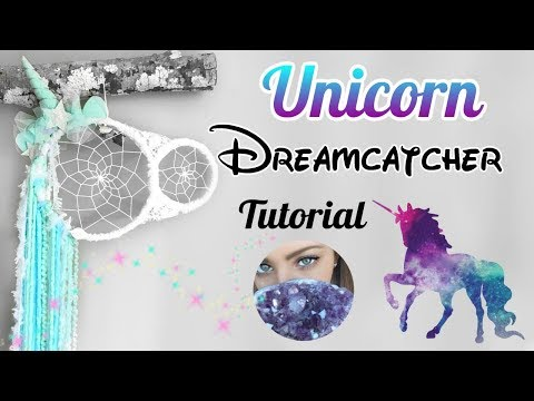 DIY UNICORN DREAMCATCHER - Tutorial