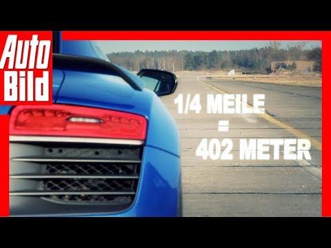 Dragrace – Audi RS 6 Avant vs. Audi R8 LMX