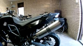 9. 2012 BMW F800GS Triple Black with Akrapovic, startup