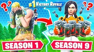 SEASON 1 vs SEASON 9 LOOT CHALLENGE in Fortnite Battle Royale