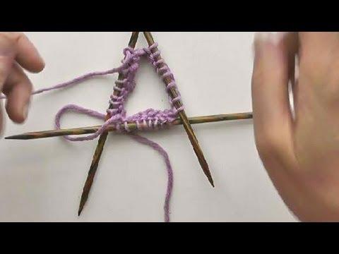 Socken Stricken #05 * Maschenanschlag mit Nadelspiel 3+1 stricken