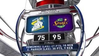 Sparks Take Game 1 Over Sky in Impressive Win by WNBA
