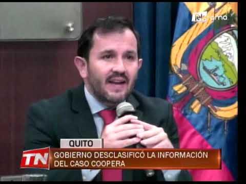 Gobierno desclasificó la información del caso Coopera