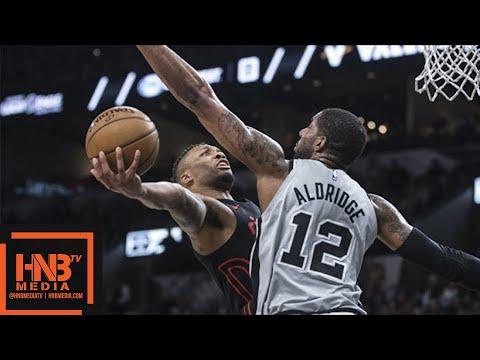 Portland Trail Blazers vs San Antonio Spurs Full Game Highlights / April 7 / 2017-18 NBA Season (видео)