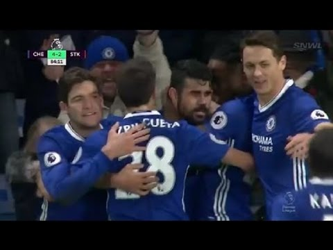 Chelsea vs Stoke City 4 2 All The Goals & Highlights 2016