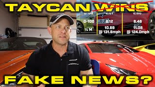 FAKE NEWS * Top Gear used OLD test Numbers for Porsche Taycan Turbo S vs Tesla Model S Race by DragTimes
