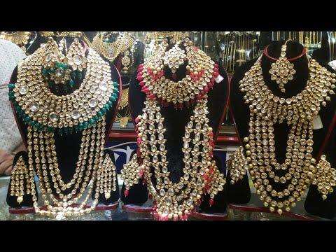 Latest Heavy kundan jewellery collection /bridal Kundan jwellery set/Chadni chawk market/Joypuri kun