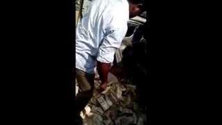 crores found inside a crashed car....