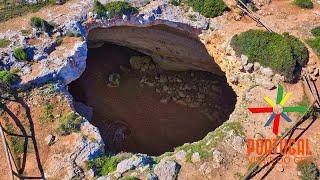 Algar de Benagil - Secret Cave with Beach inside - O segredo escondido do Algarve - 4K Ultra HD