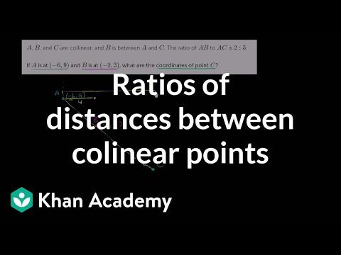 Dividing Line Segments Video Khan Academy