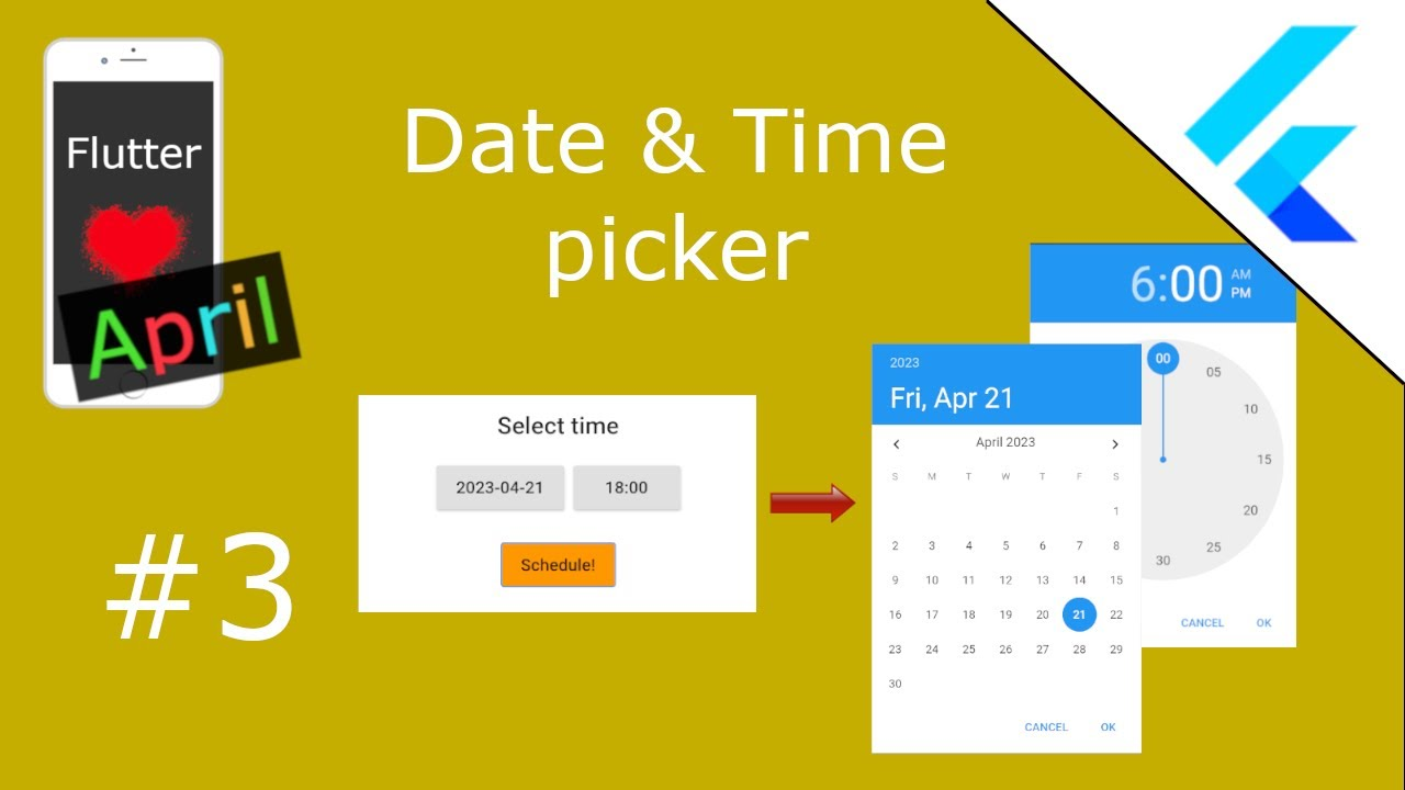 Date & Time picker YouTube video