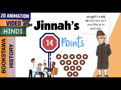 Jinnah 14 points in Hindi [ Modern History of India ] UPSC