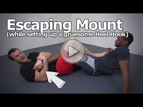 How to Escape From Full Mount (and set up a disgusting heel hook finish)