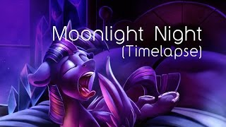 Moonlight Night (Pony Art Time-lapse)
