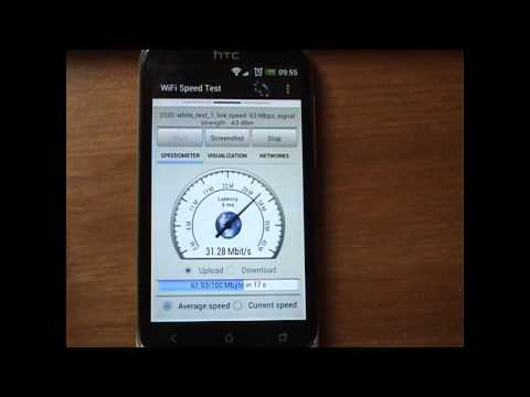 Video of WiFi Speed Test