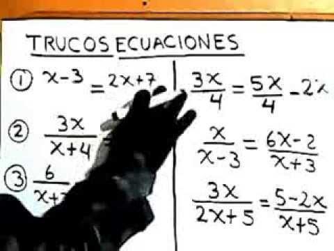 Trucos Para Ecuaciones Algebraicas en Matematicas