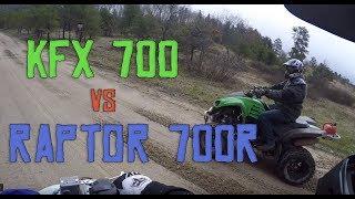 2. Raptor 700r Vs. Kawasaki KFX 700 & YFZ450r
