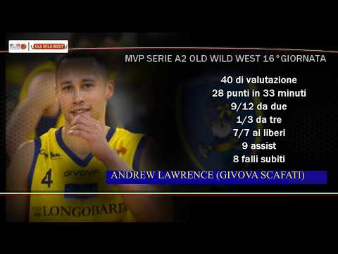 Serie A2 Old Wild West: MVP 16. giornata Andrew Lawrence