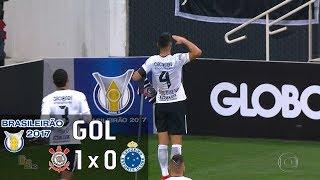 Gol - Corinthians 1 x 0 Cruzeiro - 7ª Rodada Brasileirão 2017 - 14/06/2017Narração: Rogério CorrêaEstádio: Itaquerão/Arena Corinthians, São Paulo-SP