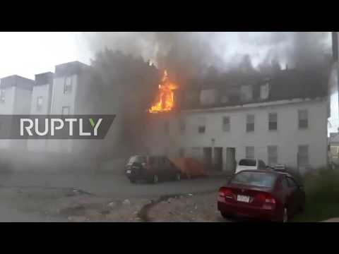 USA: Firefighters combat blaze as explosions jolt towns north of Boston