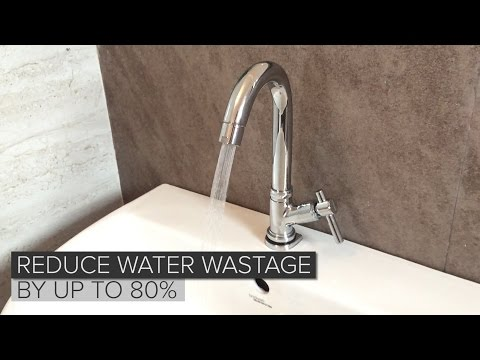 Water saving taps reduce wastage by 80%