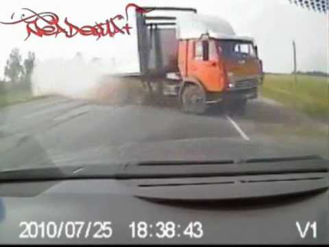 Head on car crash in Russia