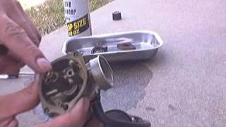 2. Cleaning a Kymco people 50 carb Part 1