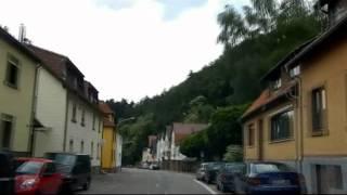 Weinheim Germany  City pictures : Car trip through Weinheim, germany