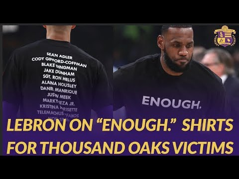 Video: Lakers and Hawks Players Wear #Enough Shirts for Thousand Oaks Shooting Victims