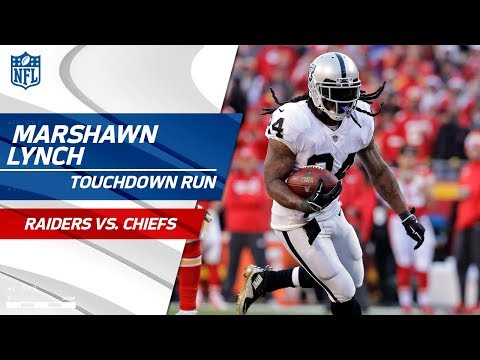 Video: Marshawn Lynch Breaks Big Tackle to Take in the TD vs. KC! | Raiders vs. Chiefs | NFL Wk 14