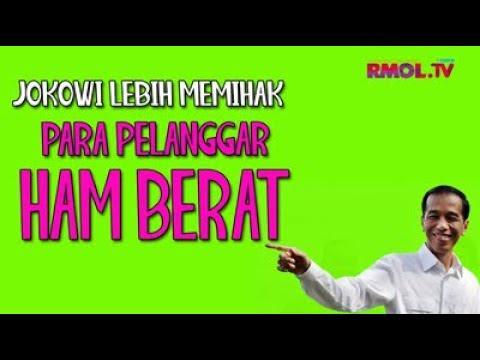 Jokowi Lebih Memihak Para Pelanggar HAM Berat