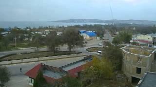 Перекрёсток в Щёлкино, 17.11.2012 - time-lapse с камеры 2