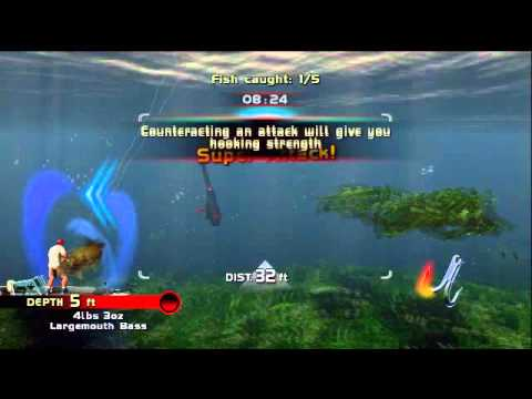 rapala pro bass fishing wii u gameplay