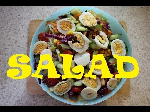 HOW TO MAKE NIGERIAN SALAD 😋| Nigerian Food Recipes