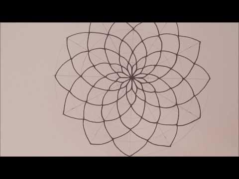 HOW TO DRAW Mandala Basic Step by Step && Tips   Espanol && English   Speed Draw
