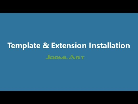 Joomla 3 Video tutorials - Joomla Template and Extension Installation