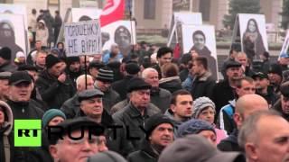 В Киеве прошел митинг против политики Петра Порошенко