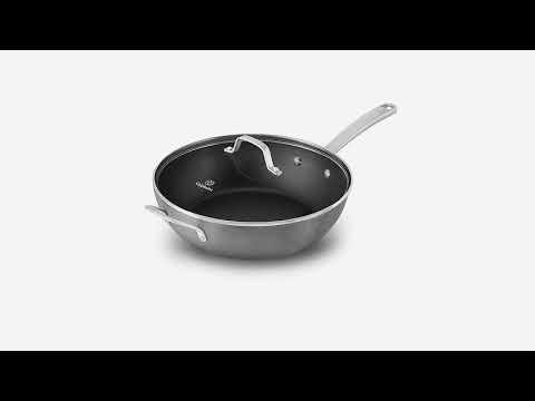 Calphalon Classic Nonstick Saute Pan with Cover, 5 quart, Grey