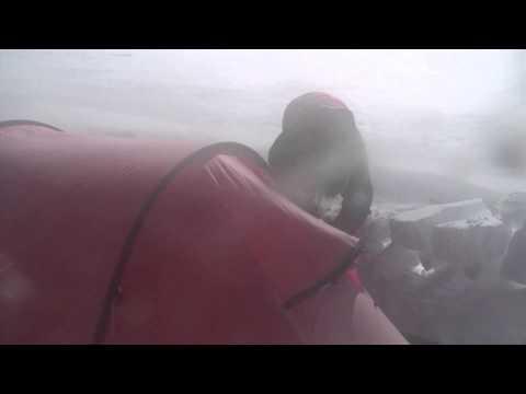 Hilleberg Keron in blizzard Greenland icecap HD.mov