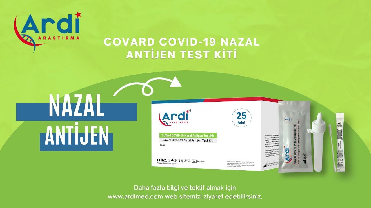 CoVard Covid-19 Nazal Antijen Test Kiti