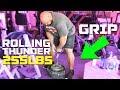 255LB ROLLING THUNDER!! | GRIP STRENGTH | BRIAN SHAW