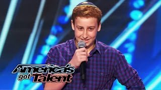 Josh Orlian: 12-Year-Old Standup Comedian Gets Naughty on AGT Stage - America's Got Talent 2014