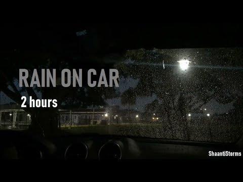 Rain On Car Under Trees -  2 Hours Rain Sounds for Sleep, Study & Meditation