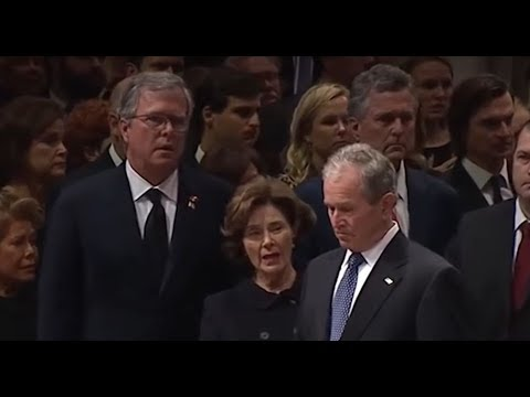 Bush Wacked!! Watch 7 Seconds Of Viewing Pleasure At George Bush Sr. Funeral (Best Clear Angle)!!