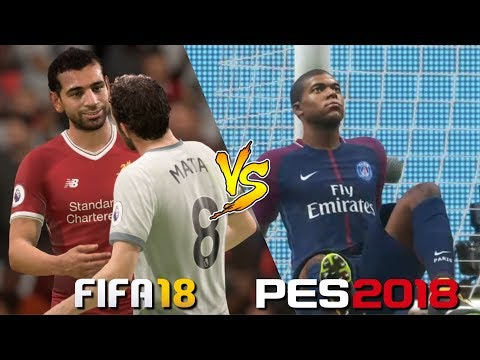 FIFA 18 Vs. PES 2018 | Post-Match Cinematics & Celebrations Gameplay Comparison