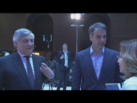 Το θέμα της Ιταλίας κυριάρχησε στη συνάντηση του Κ. Μητσοτάκη με τον Α. Ταγιάνι