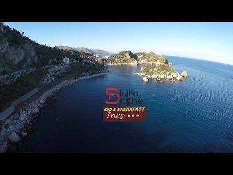 one love one life - drone taormina giardini naxos, isola bella