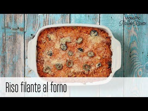 riso filante al forno - ricetta