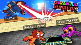2v2 Manhunt SCRAMBLE CRAFT! (Speedrunner vs Hunter)