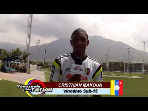 Cristhian Makoun  Vinotinto Sub-15